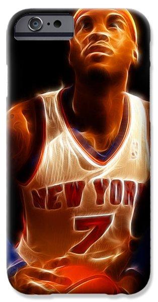 Carmelo Anthony - New York Nicks - Basketball - Mello iPhone Case by Lee Dos Santos