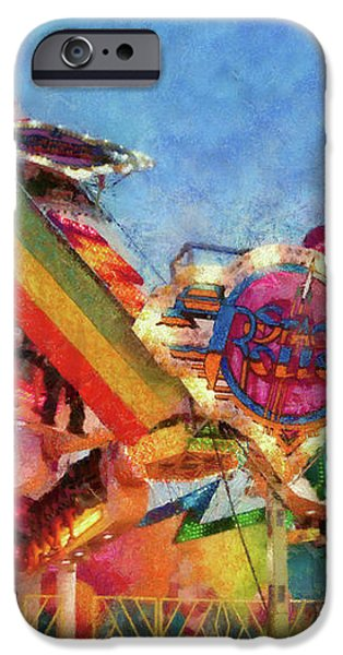 Carnival - A most colorful ride iPhone Case by Mike Savad