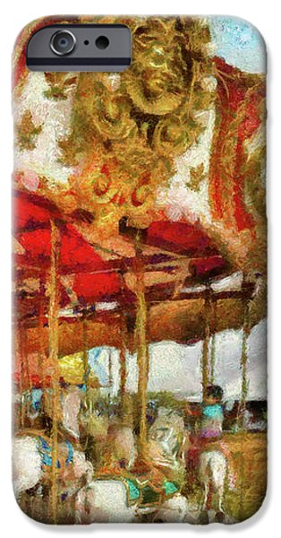 Carnival - The Merry-go-round iPhone Case by Mike Savad