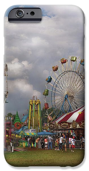 Carnival - Traveling Carnival iPhone Case by Mike Savad