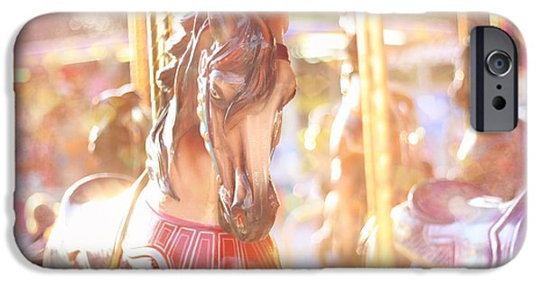 Little Girl iPhone Cases - Carousel Dream iPhone Case by Amy Tyler