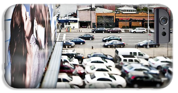 Advertise iPhone Cases - Cars Parked in a Parking Lot iPhone Case by Eddy Joaquim
