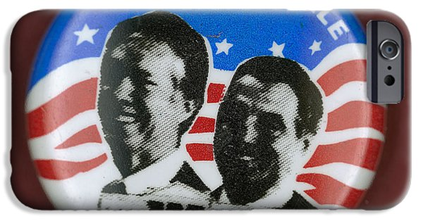 Carter House iPhone Cases - Carter Campaign Button iPhone Case by Granger