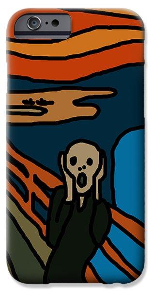 The Scream iPhone Cases - Cartoon Scream iPhone Case by Jera Sky