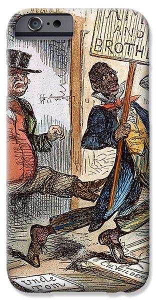 CARTOON: SLAVERY, 1861 iPhone Case by Granger