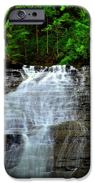 Cascading Falls iPhone Case by Frozen in Time Fine Art Photography