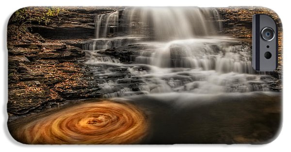 Pennsylvania iPhone Cases - Cascading Swirls iPhone Case by Susan Candelario