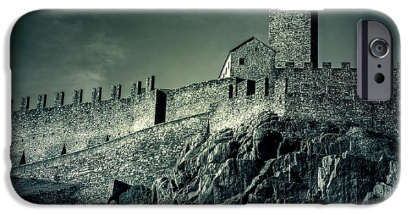 Castle iPhone Cases - Castelgrande Bellinzona iPhone Case by Joana Kruse
