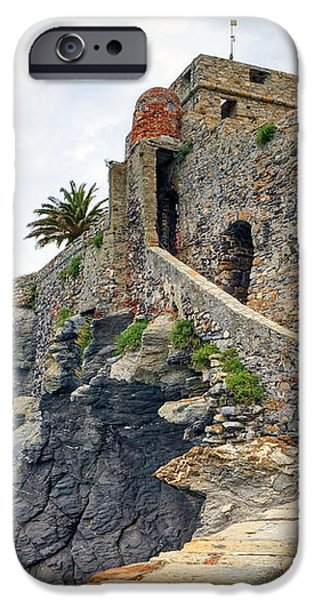 Castello della Dragonara in Camogli iPhone Case by Joana Kruse