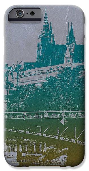 Castillo De Praga iPhone Case by Naxart Studio