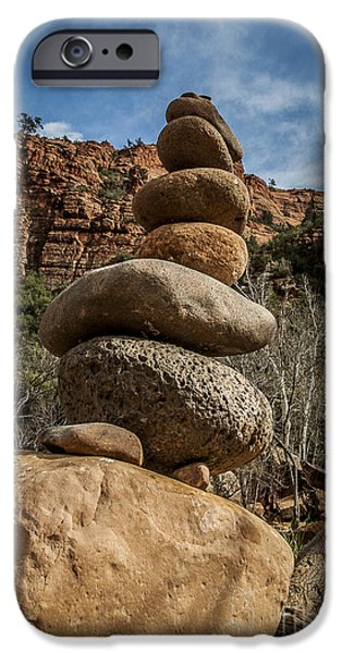 Oak Creek iPhone Cases - Castle Rock Cairn iPhone Case by Darcy Michaelchuk