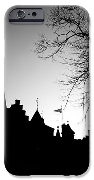 Castle Silhouette iPhone Case by Semmick Photo