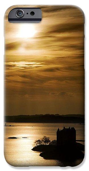 Castle Stalker At Sunset, Loch Laich iPhone Case by John Short