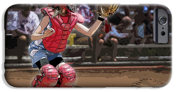 Softball iPhone Cases - Catch It iPhone Case by Kelley King