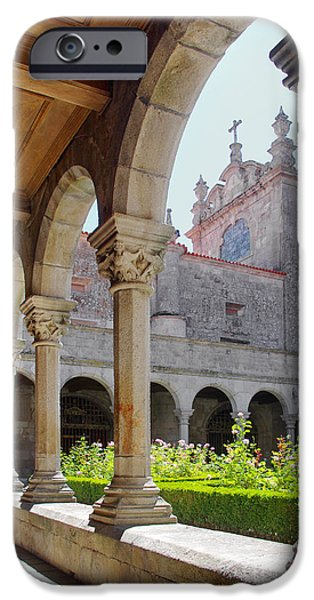 Abbey iPhone Cases - Cathedral Cloister iPhone Case by Carlos Caetano