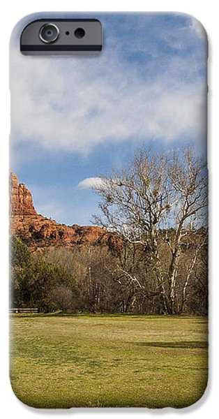 Cathedral Rock from the Park iPhone Case by Darcy Michaelchuk