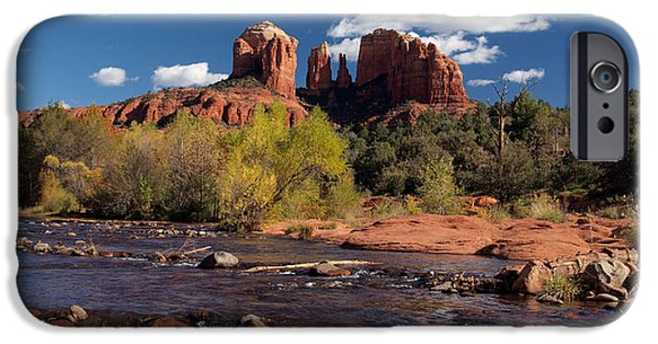 Cathedral Rock iPhone Cases - Cathedral Rock Sedona iPhone Case by Joshua House