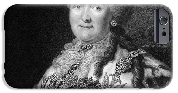 Catherine White Photographs iPhone Cases - Catherine The Great, Empress Of Russia iPhone Case by Middle Temple Library