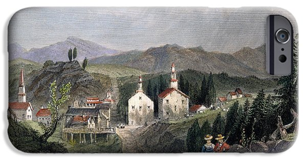 1839 iPhone Cases - Catskill Village, 1839 iPhone Case by Granger