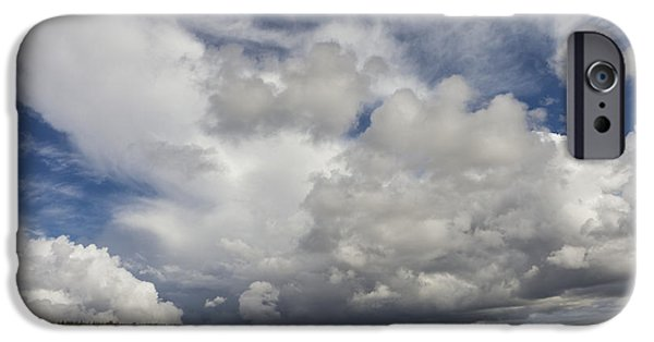 Field. Cloud iPhone Cases - Cattle Grazing In A Field iPhone Case by John Short
