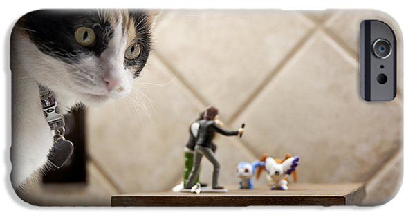 Behind The Scenes Photographs iPhone Cases - Catzilla iPhone Case by Melany Sarafis