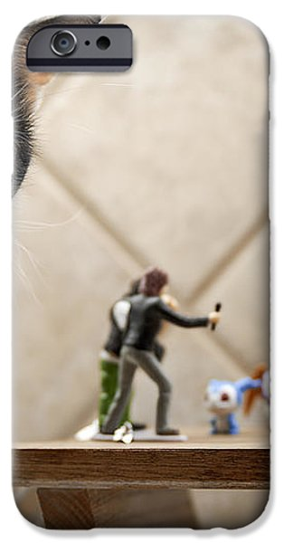 Catzilla iPhone Case by Melany Sarafis