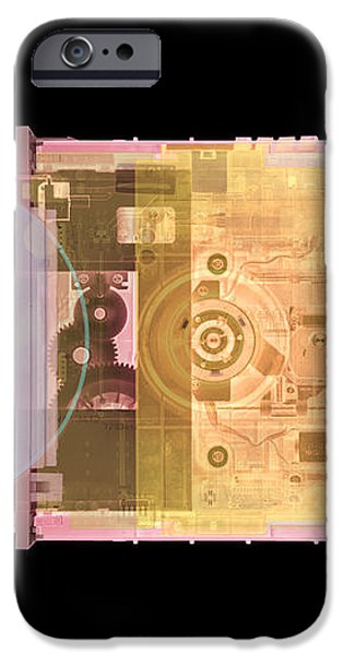 Cd Drive, Coloured X-ray iPhone Case by Mark Sykes