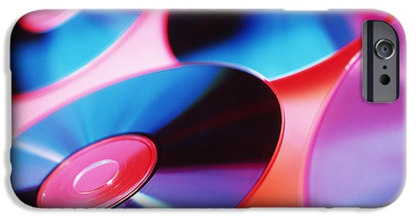 Disc iPhone Cases - Cd-roms iPhone Case by Tek Image