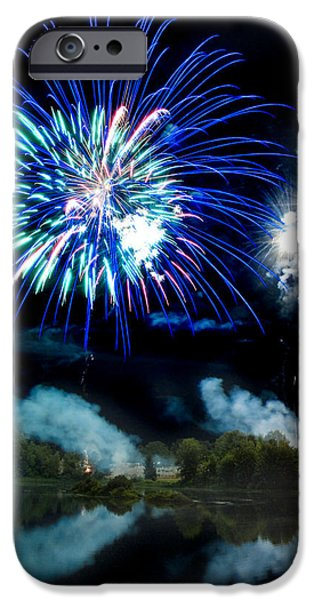 Fireworks iPhone Cases - Celebration II iPhone Case by Greg Fortier