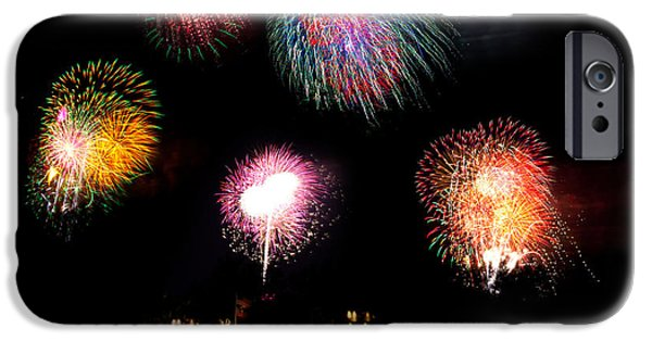 Fireworks iPhone Cases - Celebration iPhone Case by Michelle Wiarda