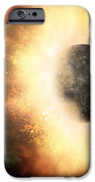 Celestial Impact, Artwork iPhone Case by Nasajpl-caltech