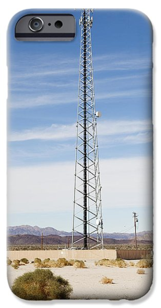 Cellular Phone Tower In Desert iPhone Case by Paul Edmondson