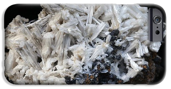 Fibrous Crystals iPhone Cases - Cerussite iPhone Case by Dirk Wiersma