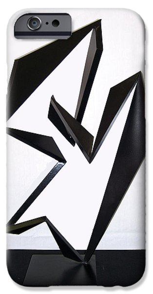 Abstract Movement Sculptures iPhone Cases - Cha Cha Cha iPhone Case by John Neumann
