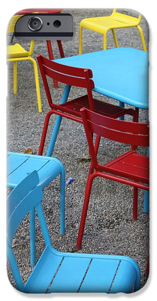 Chairs in Bryant Park iPhone Case by Lauri Novak