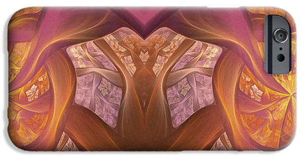 Asymmetrical Mixed Media iPhone Cases - Chambers Of The Heart iPhone Case by Georgiana Romanovna