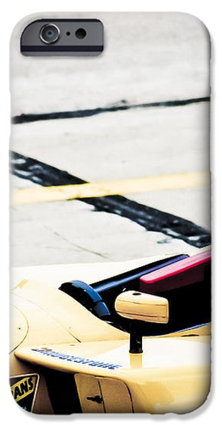 Champ Car Driver iPhone Case by Darcy Michaelchuk