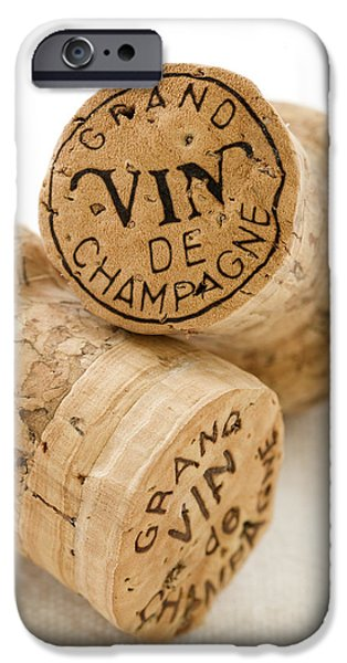 Champagne corks iPhone Case by Frank Tschakert