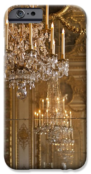 Chandelier at Versailles iPhone Case by Nomad Art And  Design