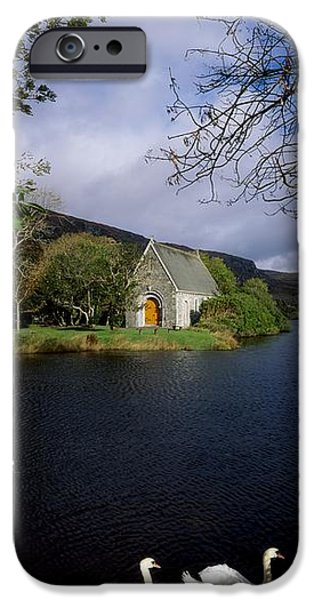 Gougane Barra Church iPhone Cases - Chapel At Gougane Barra, Co Cork iPhone Case by The Irish Image Collection