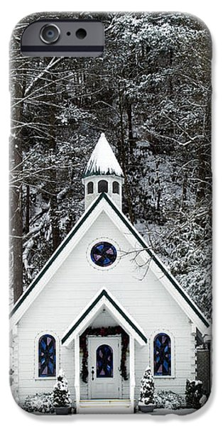 Chapel in the Snow - D007592 iPhone Case by Daniel Dempster