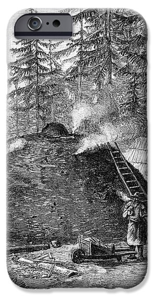 Charcoal Production, 19th Century iPhone Case by
