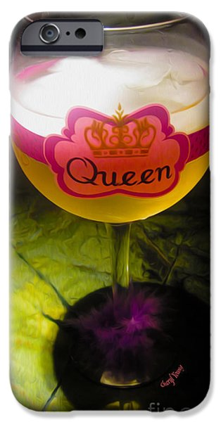Chardonnay Queen iPhone Case by Cheryl Young