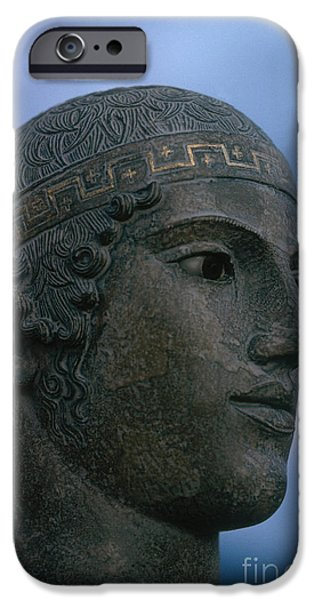 Greek Sculpture iPhone Cases - Charioteer Of Delphi iPhone Case by Photo Researchers