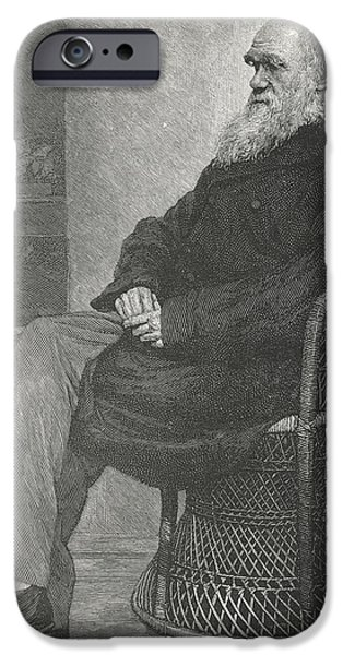 Nineteenth iPhone Cases - Charles Darwin, British Naturalist iPhone Case by Science, Industry & Business Librarynew York Public Library