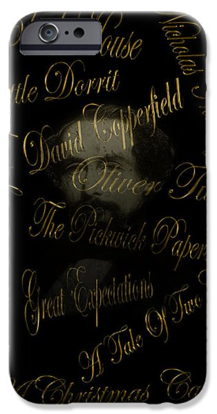Scrooge iPhone Cases - Charles Dickens iPhone Case by Andrew Fare