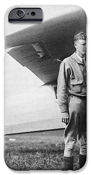 Charles Lindbergh American Aviator iPhone Case by Photo Researchers
