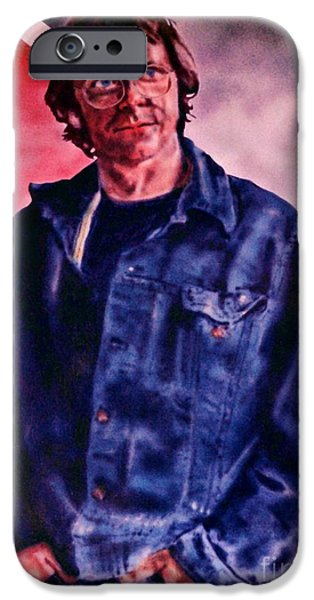 Airbrush iPhone Cases - Charles iPhone Case by Ron Bissett