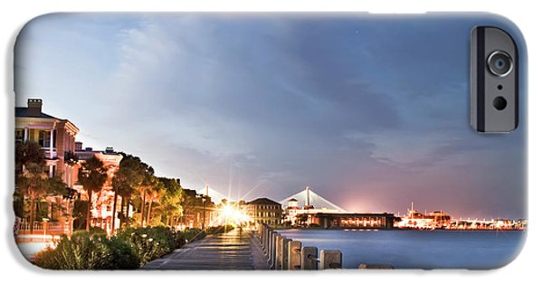 Night Photographs iPhone Cases - Charleston Battery Photography iPhone Case by Dustin K Ryan