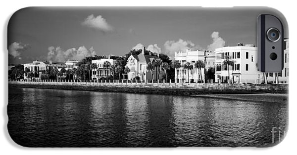 Home iPhone Cases - Charleston Battery Row Black And White iPhone Case by Dustin K Ryan